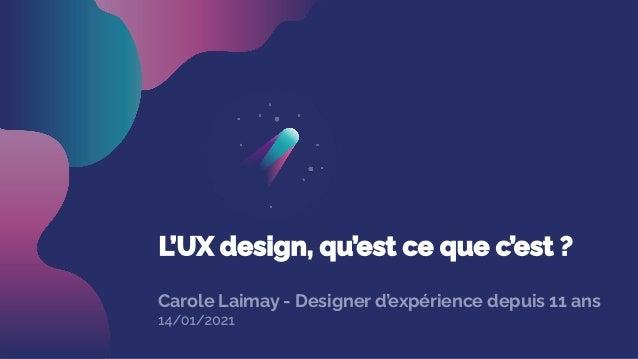 Carole Laimay - Designer d'expérience depuis 11 ans
