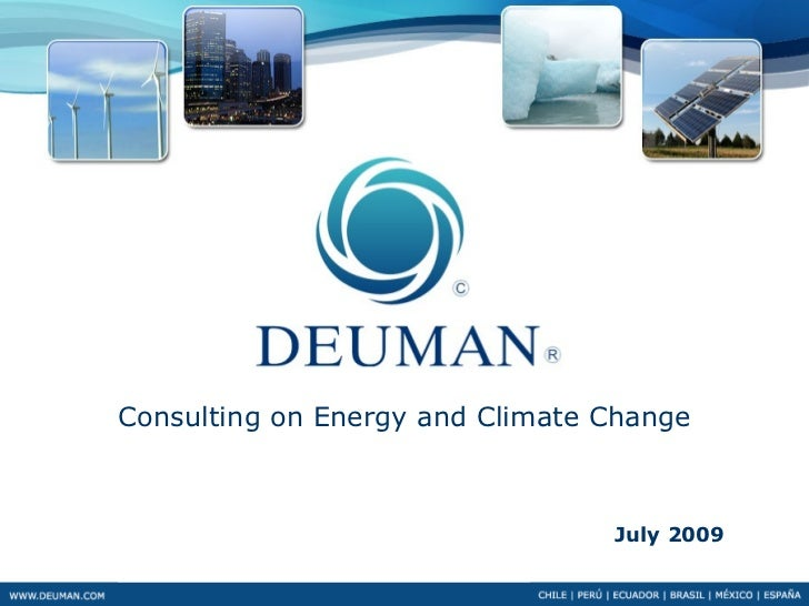 Consulting on Energy and Climate Change                                     July 2009