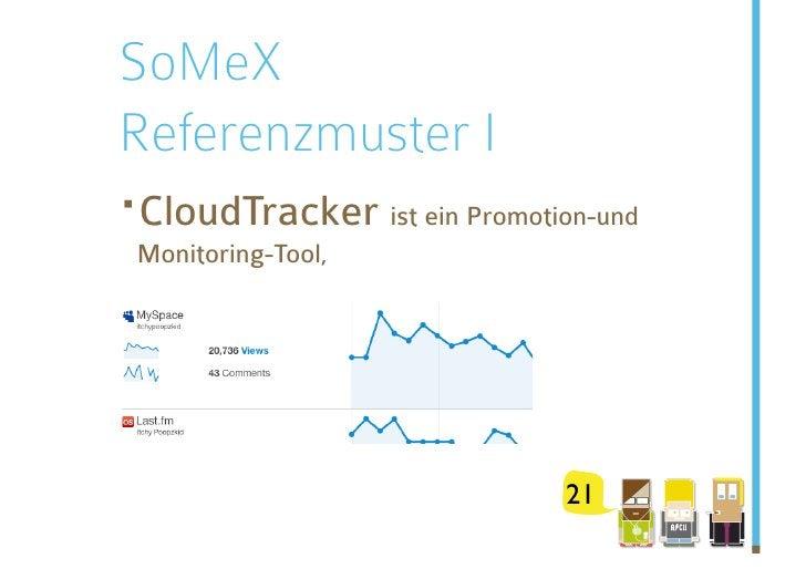 SoMeX Referenzmuster I · loudTracker  C Monitoring-Tool,                    ist ein Promotion-und                        ...