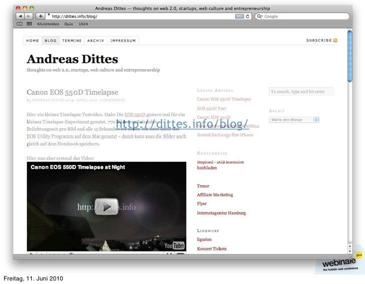 http://dittes.info/blog/     Freitag, 11. Juni 2010