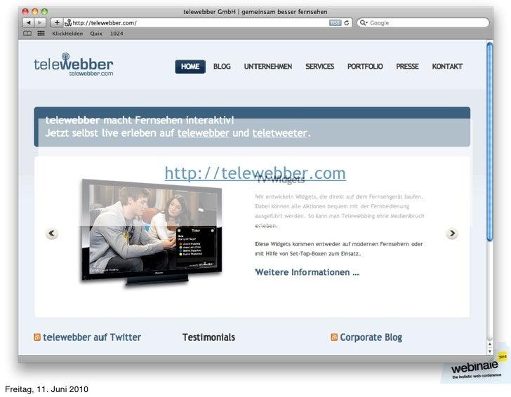 http://telewebber.com     Freitag, 11. Juni 2010