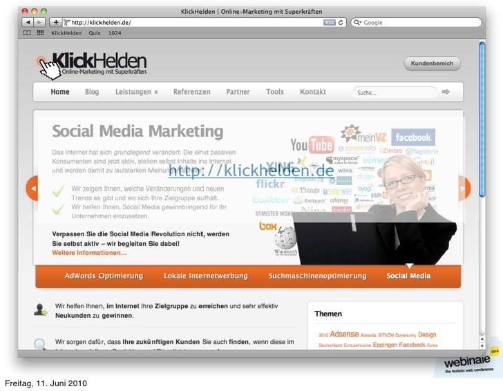 http://klickhelden.de     Freitag, 11. Juni 2010