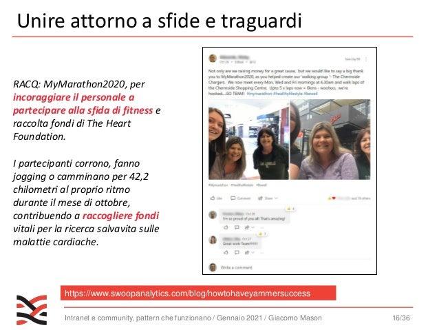 Intranet e community, pattern che funzionano / Gennaio 2021 / Giacomo Mason 17/36 L'importanza del management https://www....