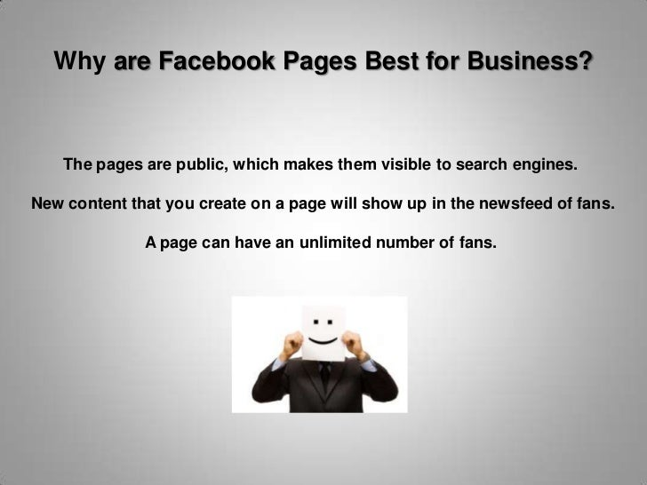"""Facebook Profile<br />A facebook profile should be used to represent an individual. <br />Profile<br />You have a """"profile..."""