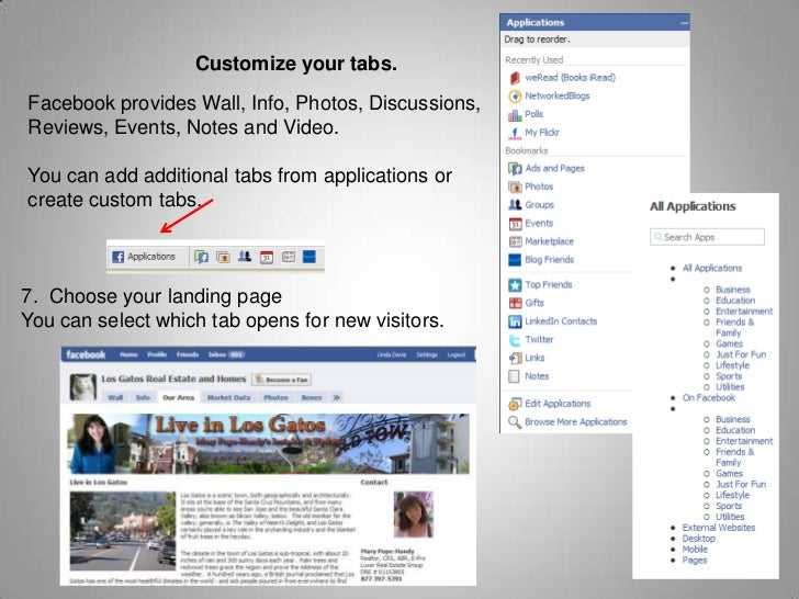 Why are Facebook Pages Best for Business?<br />Tabs on a facebook page can be customized.<br />