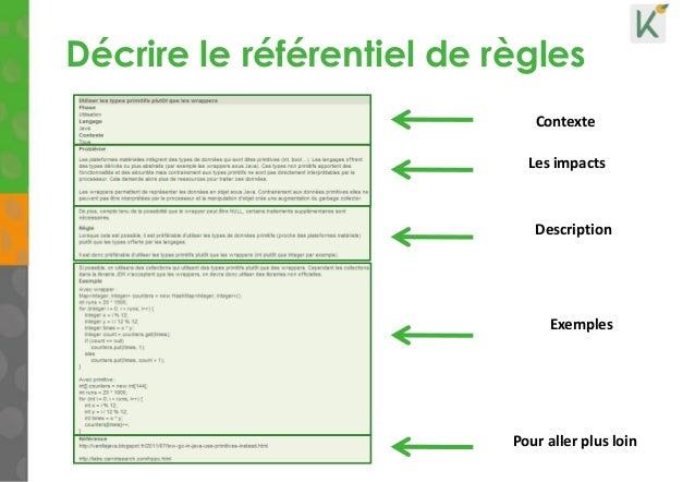 Décrire le référentiel de règles 15 Les impacts Description Pour aller plus loin Contexte Exemples