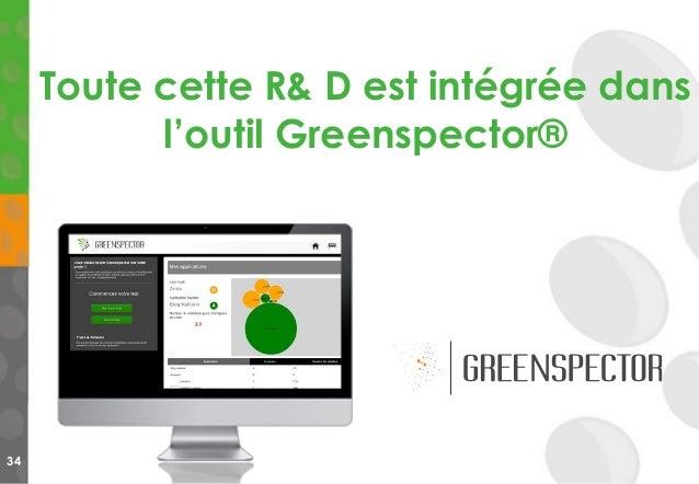 34 Toute cette R& D est intégrée dans l'outil Greenspector®