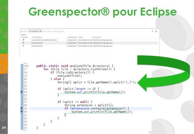 Greenspector® pour Eclipse 39