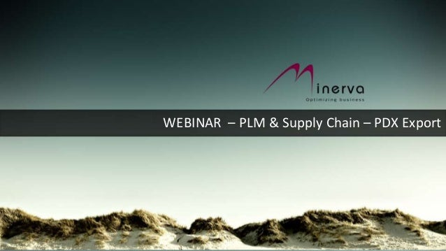 WEBINAR – PLM & Supply Chain – PDX Export