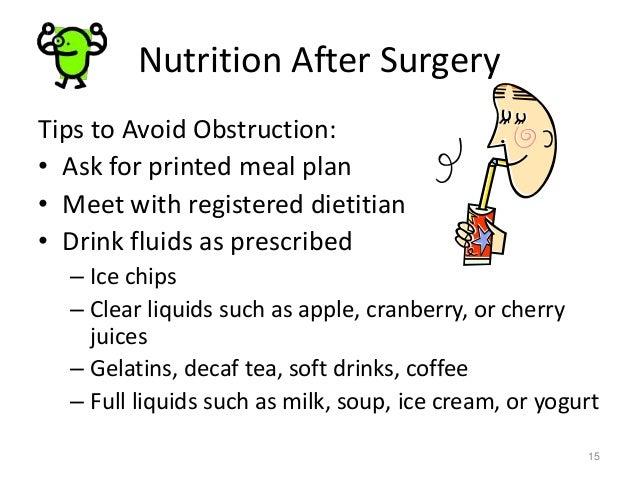 liquid diet for sbo