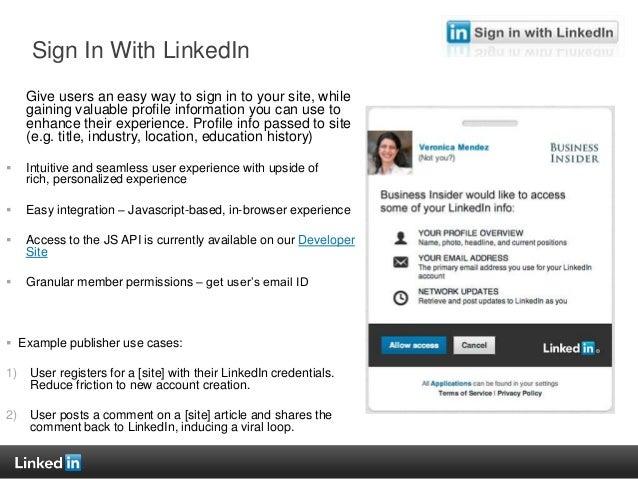 Sign In Linkedin In