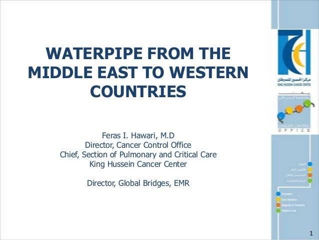 WATERPIPE FROM THE MIDDLE EAST TO WESTERN COUNTRIES Feras I. Hawari, M.D Director, Cancer Control Office Chief, Section of...