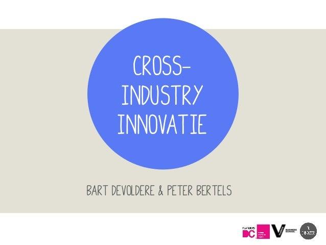 CROSS- INDUSTRY INNOVATIE Bart Devoldere & Peter Bertels