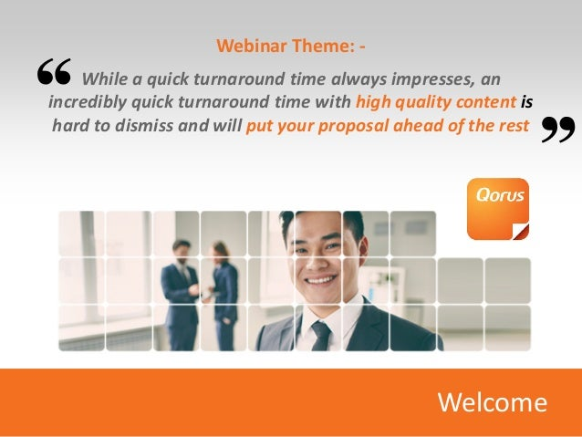 Webinar Theme: - While a quick turnaround time always impresses, an incredibly quick turnaround time with high quality con...