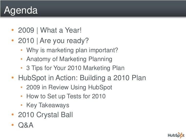 Webinar.2010 Planning Using Hub Spot Slide 2