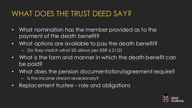 Webinar Paying An Smsf Death Benefit