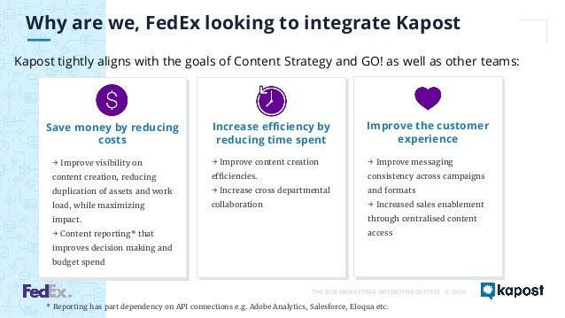 fedex b2b marketing strategy