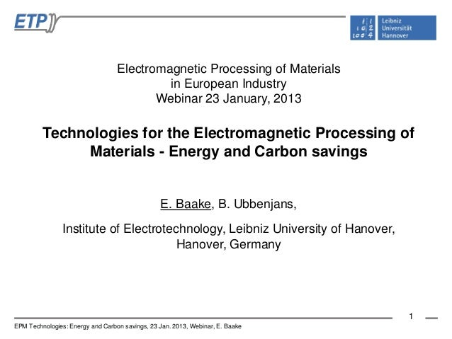 Electromagnetic Processing of Materials                                           in European Industry                    ...