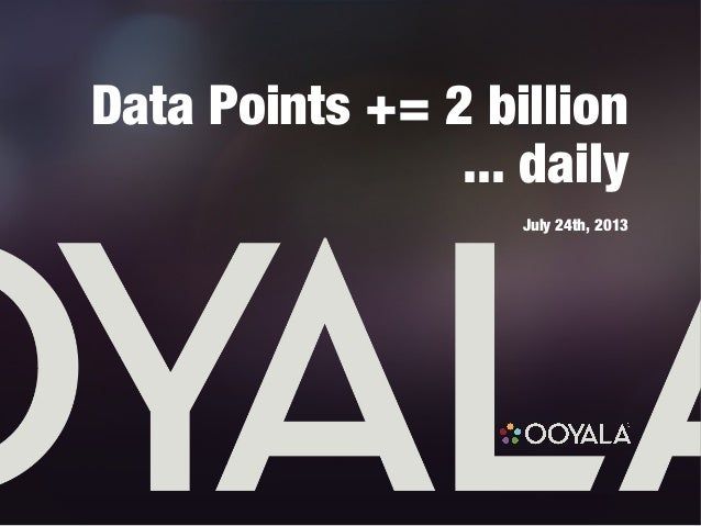 Data Points += 2 billion ... daily July 24th, 2013