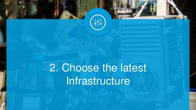 2. Choose the latest Infrastructure