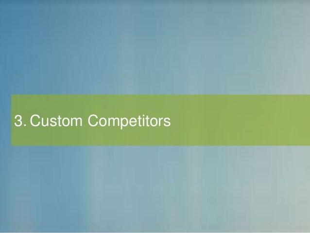 3. Custom Competitors