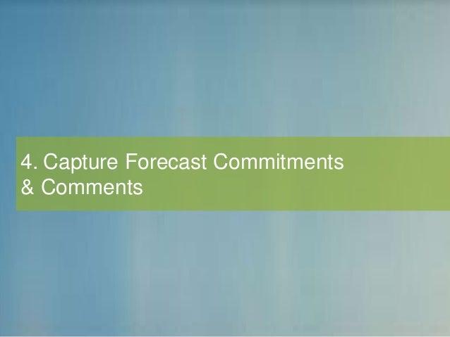 4. Capture Forecast Commitments & Comments