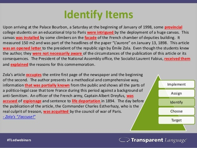 Identify Items  Upon arriving at the Palace Bourbon, a Saturday at the beginning of January of 1998, some provincial colle...