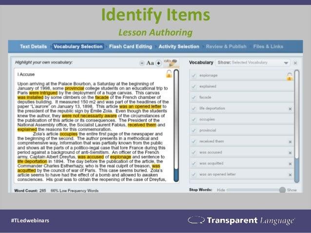 Identify Items  Lesson Authoring  #TLedwebinars