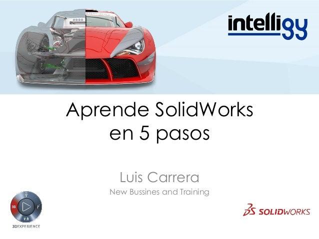 Aprende SolidWorks en 5 pasos Luis Carrera New Bussines and Training
