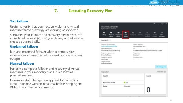 Disaster Recovery Planning Using Azure Site Recovery