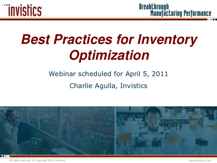 Best practices for inventory optimization - a webinar offered by Invi…