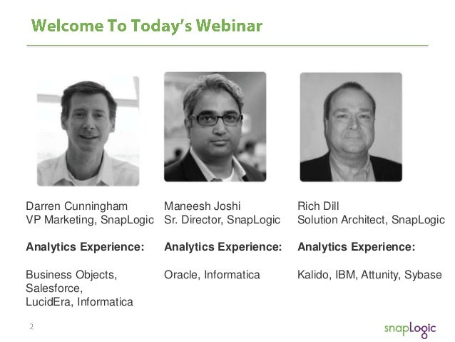Webinar: Better Business Analytics in the Cloud Slide 2