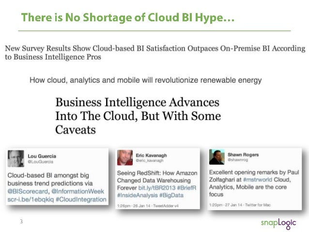 Webinar: Better Business Analytics in the Cloud Slide 3