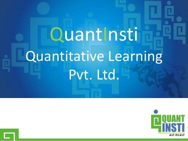 QuantInsti Quantitative Learning Pvt. Ltd.