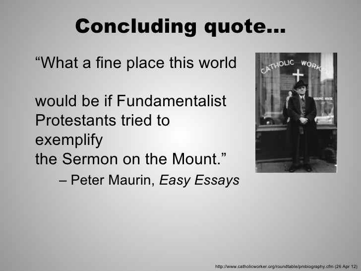 peter maurin easy essays