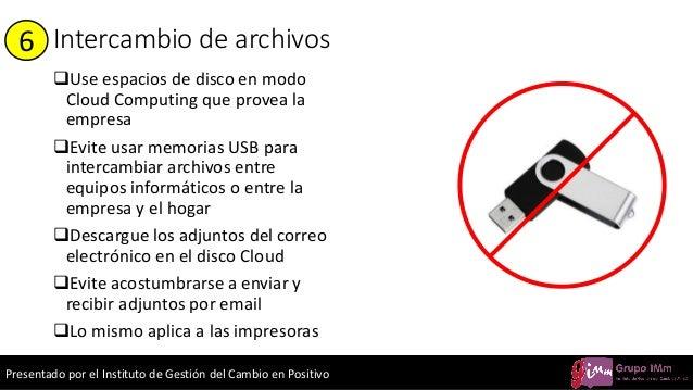 Presentado por el Instituto de Gestión del Cambio en Positivo Intercambio de archivos ❑Use espacios de disco en modo Cloud...