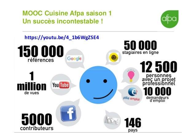 Mooc et lms rex mooc cuisine afpa webinar communautic for Afpa istres formation cuisine
