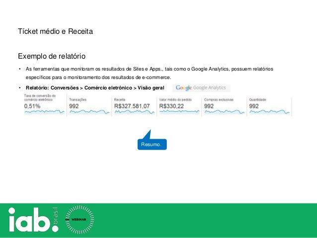 • As ferramentas que monitoram os resultados de Sites e Apps., tais como o Google Analytics, possuem relatórios específico...