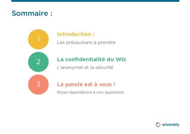 Webinar La confidentialité du Wiz Slide 3