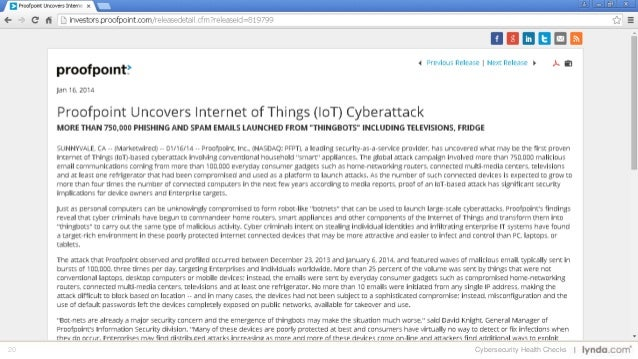 20 Cybersecurity Health Checks