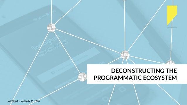 WEBINAR - JANUARY 25, 2016 DECONSTRUCTING THE PROGRAMMATIC ECOSYSTEM