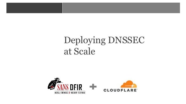 <YOUR COURSE NAME HERE> Deploying DNSSEC at Scale