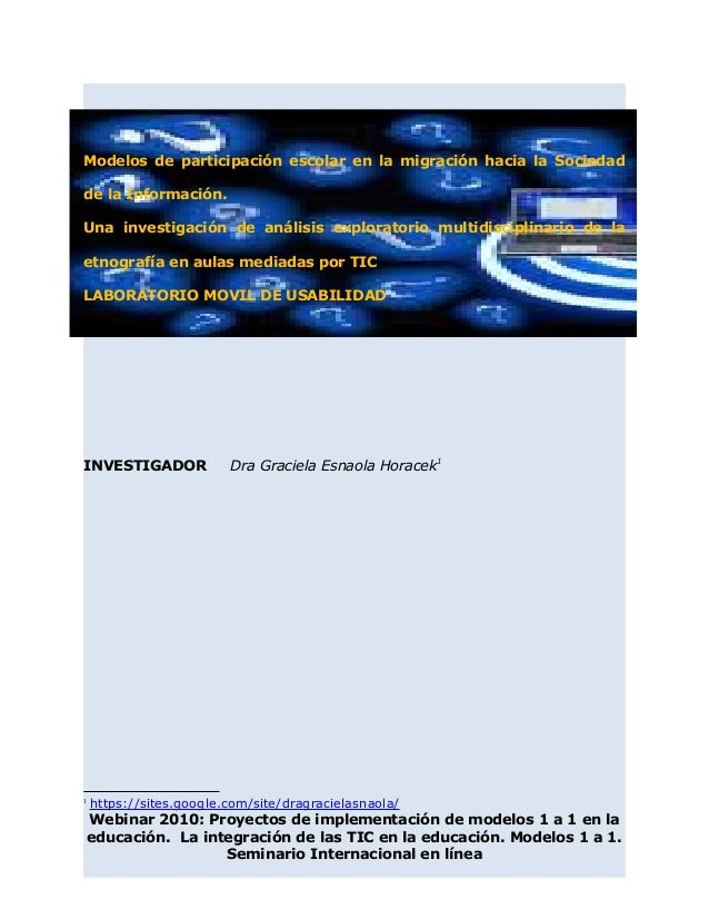 Modelos de participación escolar en la migración hacia la Sociedad de la Información. Una investigación de análisis explor...