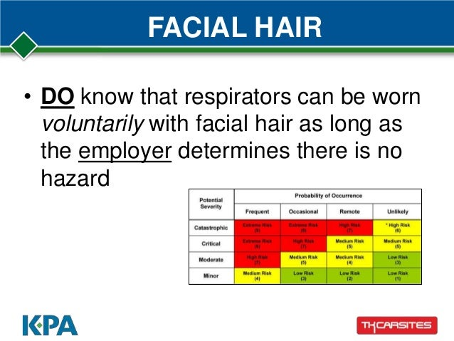 Respirator and facial hair