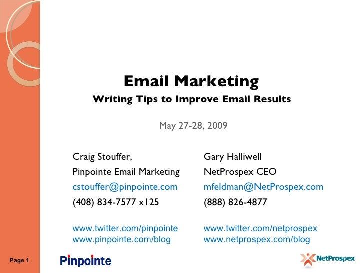 marketing writing tips What do most small businesses get wrong when it comes to email here are tips (and common pitfalls) for sending effective marketing and sales emails.