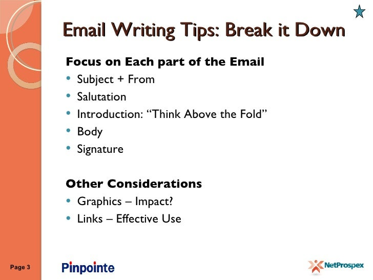 EMAIL WRITING TIPS PDF