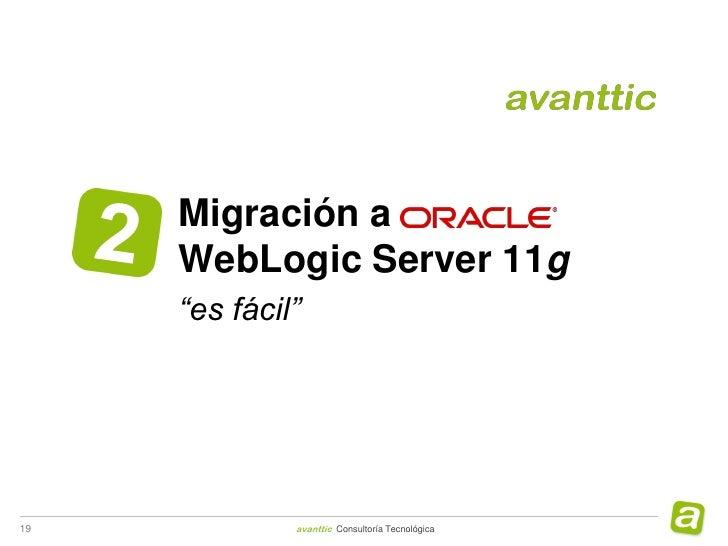 Webinar evolución a WebLogic