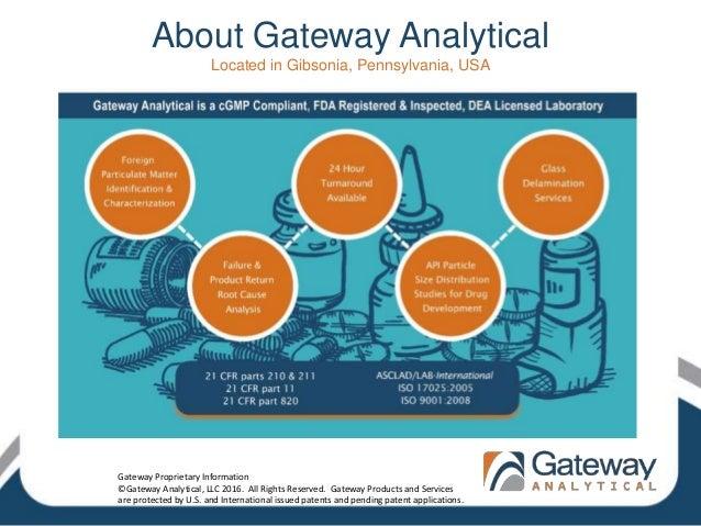 About Gateway Analytical Located in Gibsonia, Pennsylvania, USA Gateway Proprietary Information ©Gateway Analytical, LLC 2...
