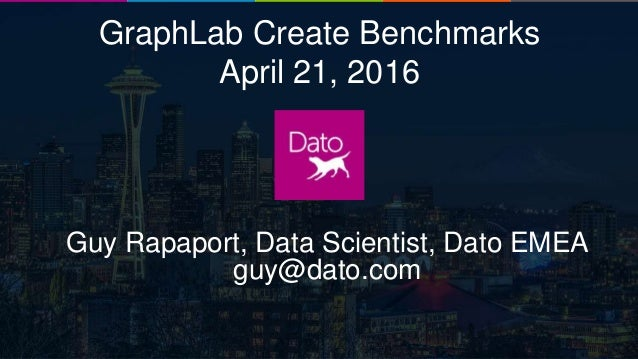 Dato Confidential1 GraphLab Create Benchmarks April 21, 2016 Guy Rapaport, Data Scientist, Dato EMEA guy@dato.com