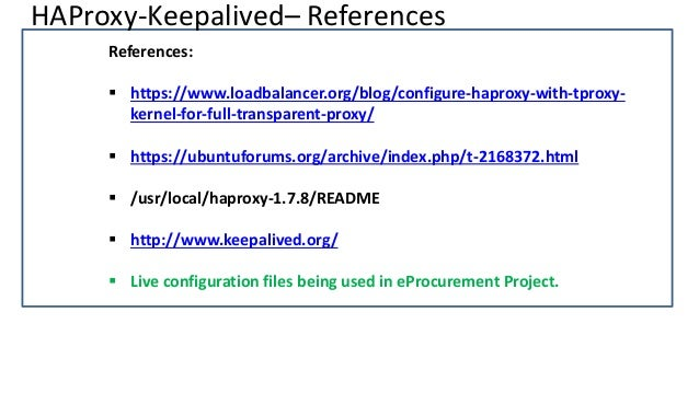 HA Deployment Architecture with HAProxy and Keepalived